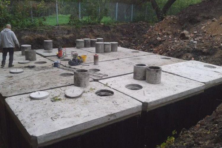Szambo betonowe dwukomorowe